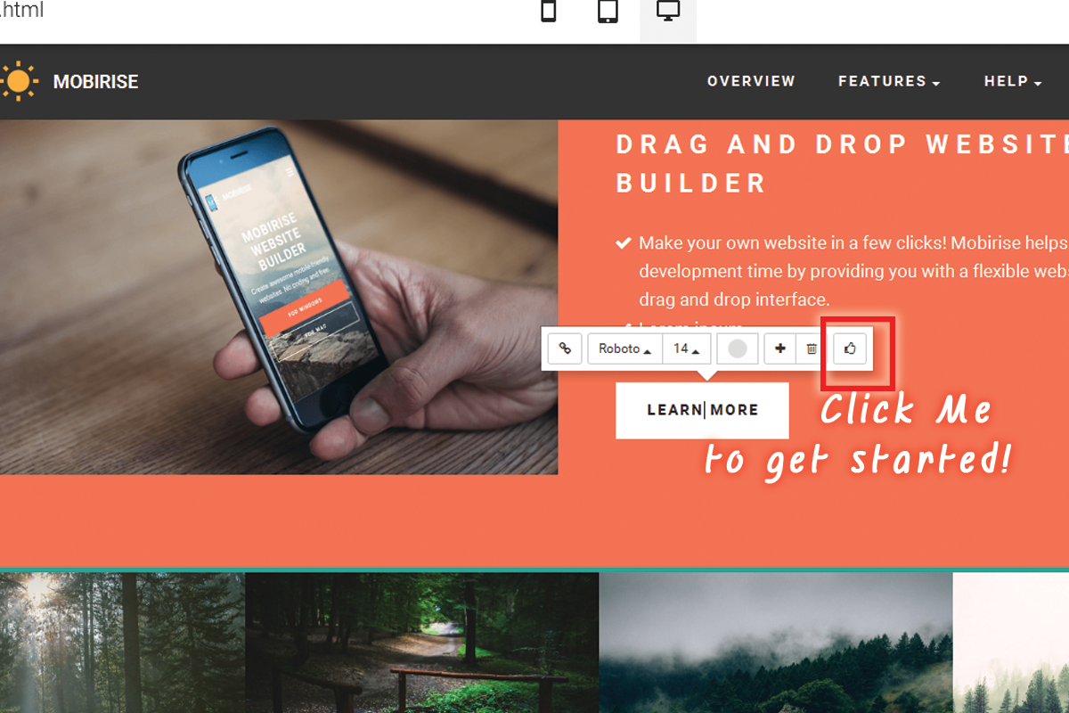 Simple Drag and Drop Web Development Software