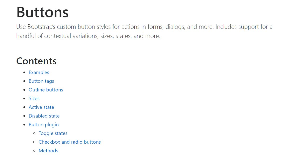 Bootstrap buttons official  documents