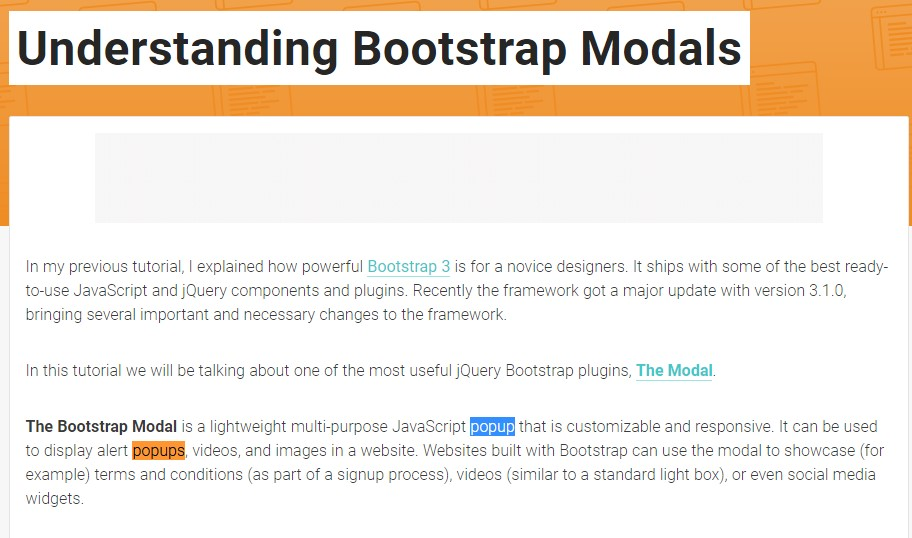 An additional useful  content  concerning Bootstrap Modal Popup
