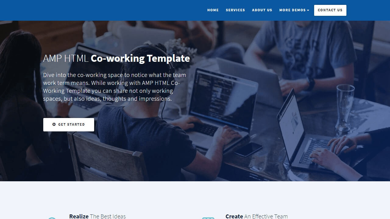 AMP HTML Co-Working Template