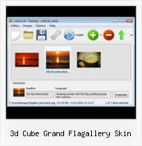 3d Cube Grand Flagallery Skin Flash Actionscript 2 Flip Image