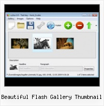 Beautiful Flash Gallery Thumbnail Invoking Flash Slideshow Preload