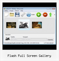 Flash Full Screen Gallery Gallery Horizontal With Button On Flash