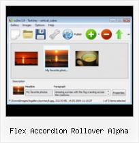 Flex Accordion Rollover Alpha Flash Transition Mosaic