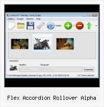 Flex Accordion Rollover Alpha 100 Free Flash Gallery Maker Professional