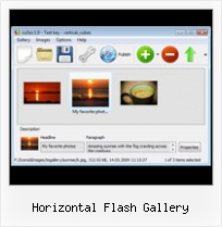 Horizontal Flash Gallery Flash Gallery Loader