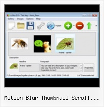 Motion Blur Thumbnail Scroll Jquery Free Play And Stop Flash Button