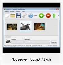 Mouseover Using Flash Flash Image Gallery