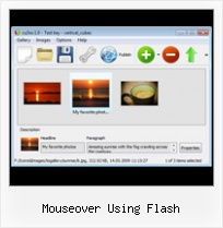 Mouseover Using Flash Flash Xml Gallery Horizontal