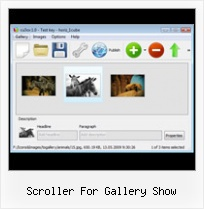 Scroller For Gallery Show Flash Gallery As2 Xml Source
