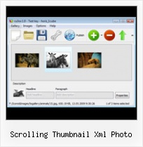 Scrolling Thumbnail Xml Photo Free Customisable Flash Intro Swf Creator