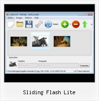 Sliding Flash Lite Flash Thumbnail View Applet