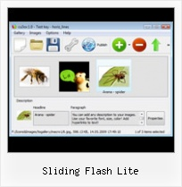Sliding Flash Lite Autostart Flash Slideshow Template