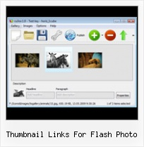 Thumbnail Links For Flash Photo Horizontal Flash Auto Scrolling Navigation Bar
