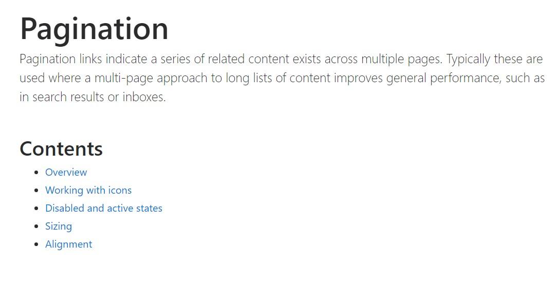 Bootstrap pagination  main  records
