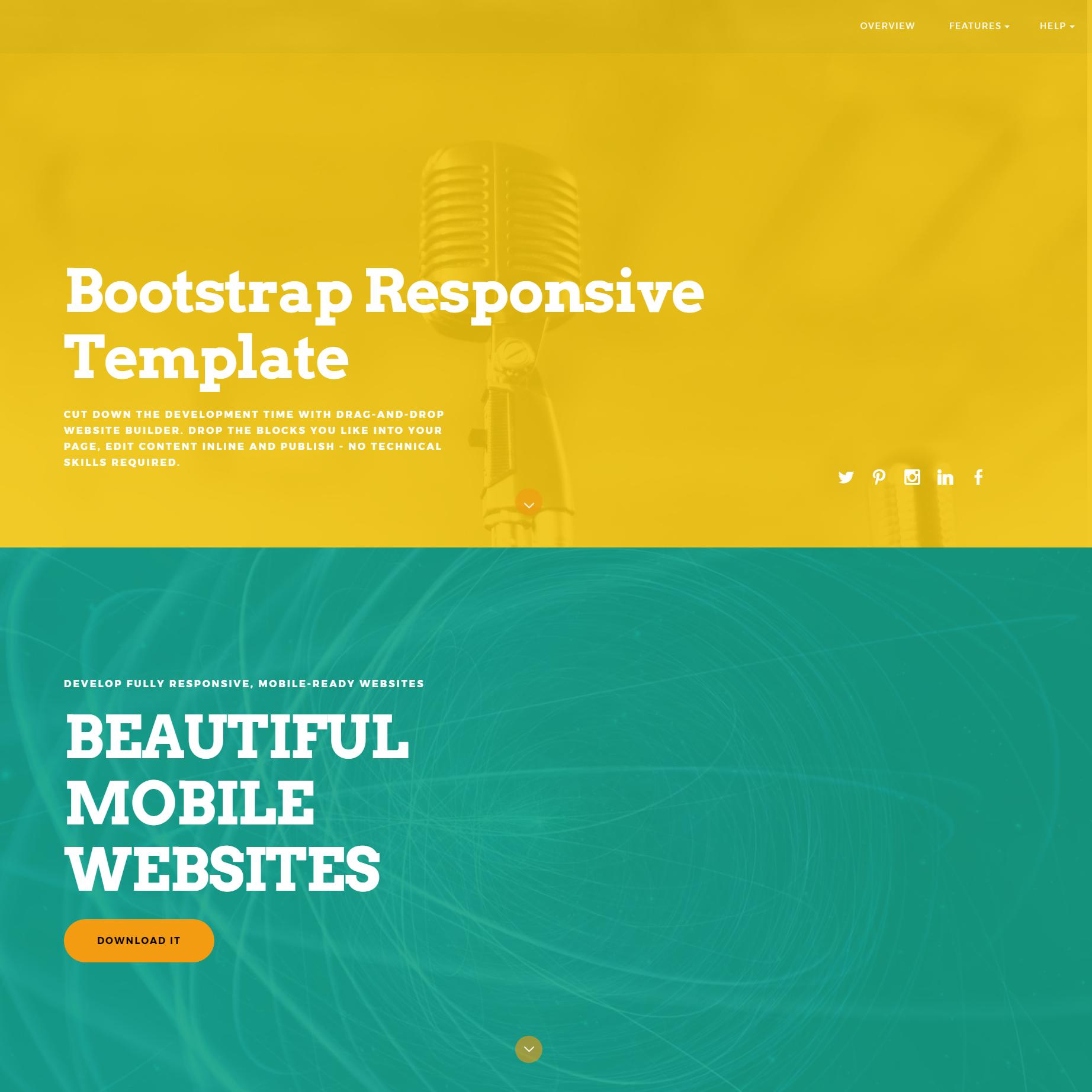 Responsive Bootstrap ColorM Templates