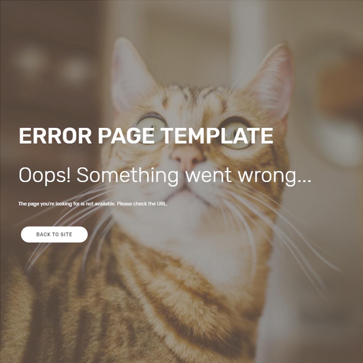Free Bootstrap Error Themes