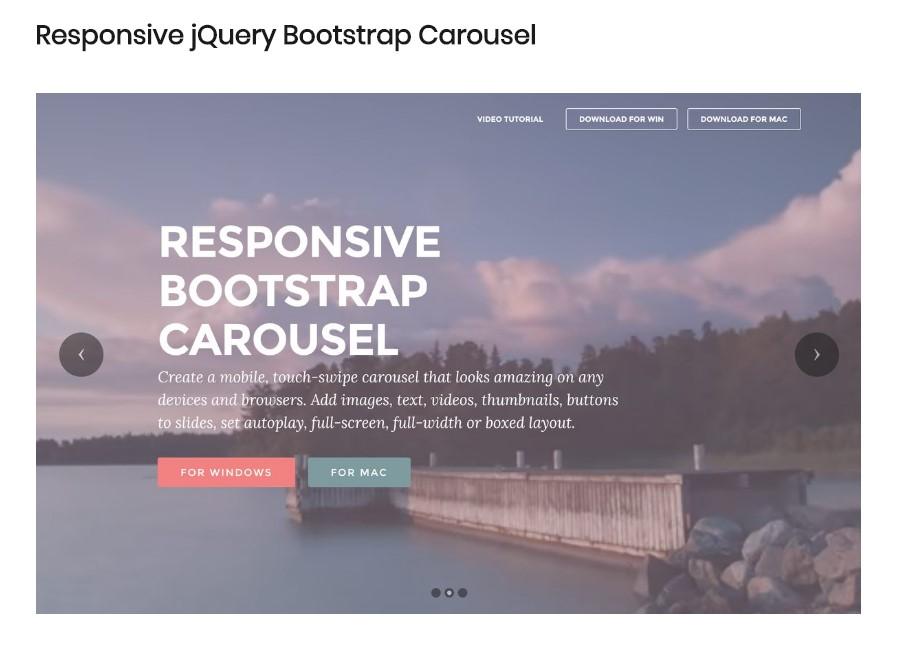 Bootstrap Carousel Responsive
