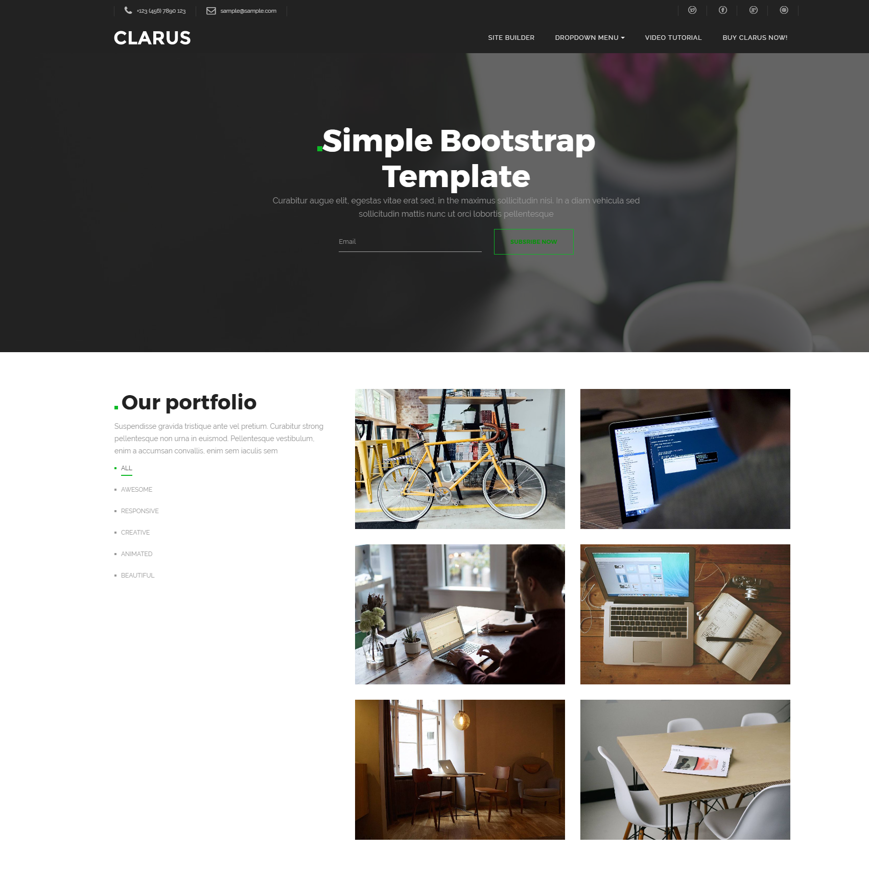 Free Bootstrap Simple Themes