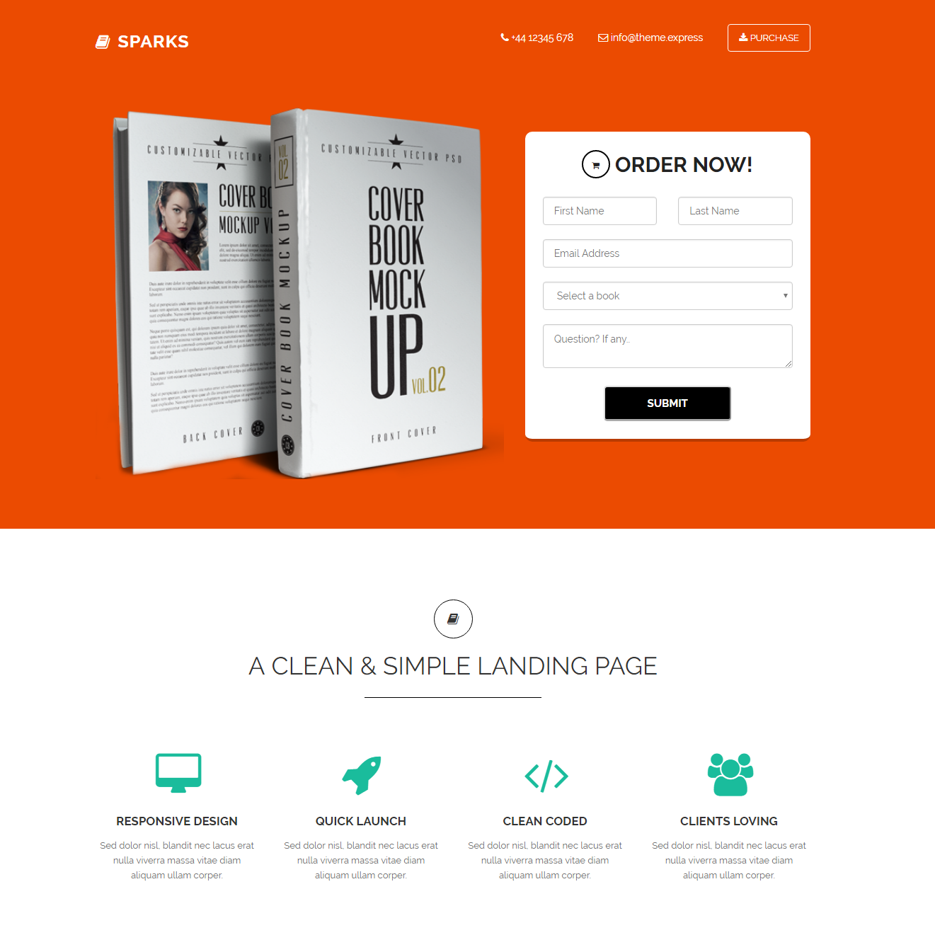 Free Bootstrap Sparks Themes