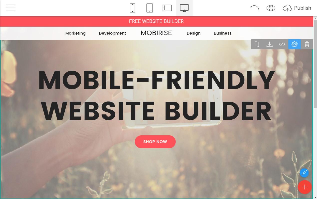 Mobile-friendly Webpage Maker