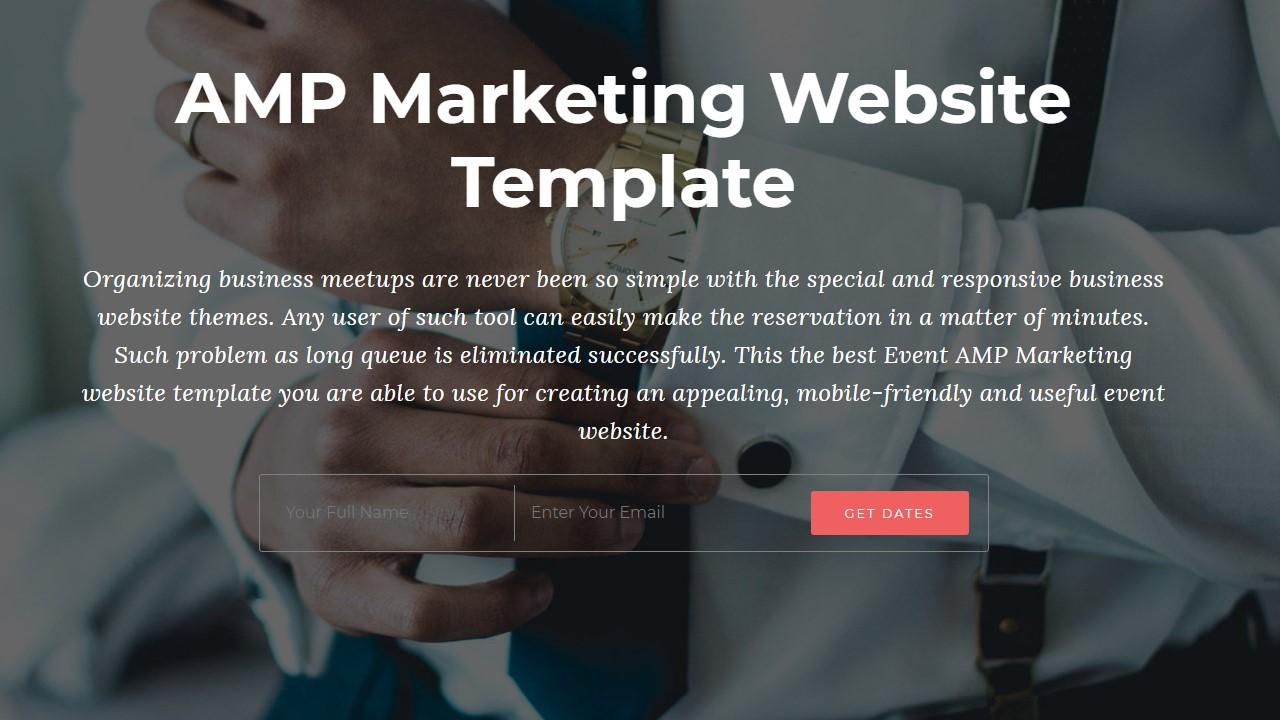 AMP Marketing Website Template