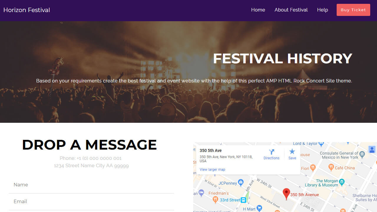 Event AMP HTML Template